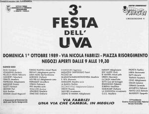 la stampa festa uva 1989