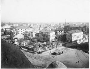 1930 visuale Ospedale Maria Vittoria dalla Chiesa di San Alfonso