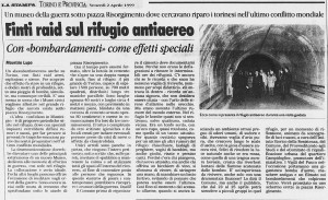 la stampa borgo campidoglio rifugio antiaereo 1999