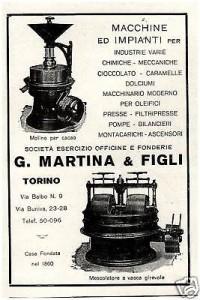 MOLINO-PER-CACAO-MESCOLATORE-GMARTINA-TORINO-1928 1