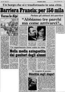 barriera di francia la stampa 1973