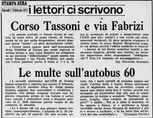 la stampa 1973