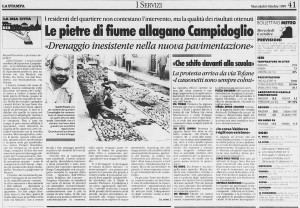 la stampa 1999 riasfaltatura borgo campidoglio