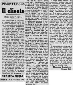 la stampa cso tassoni prostituzione 1972 p2