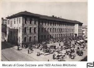 mercato di corso Svizzera 1920 ca