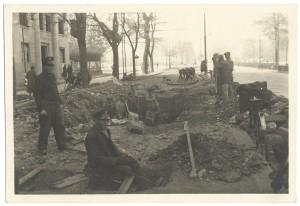 Corso Francia altezza via Villar Focchiardo - via Brione.Effetti prodotti dai bombardamenti dell'incursione aerea del 20-21 novembre 1942.
