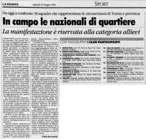 nazionali di quartiere 1991