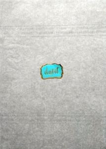 cioccolato Caramelle DAVIT anni 5060 pubblicitaria Carta velina