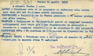 davit telegramma 1951