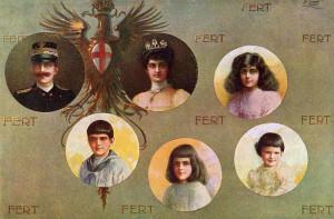 Vittorio Emanuele III e famiglia (1915).