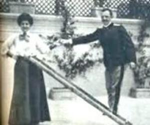 Elena di Savoia e Vittorio Emanuele III in un momento privato