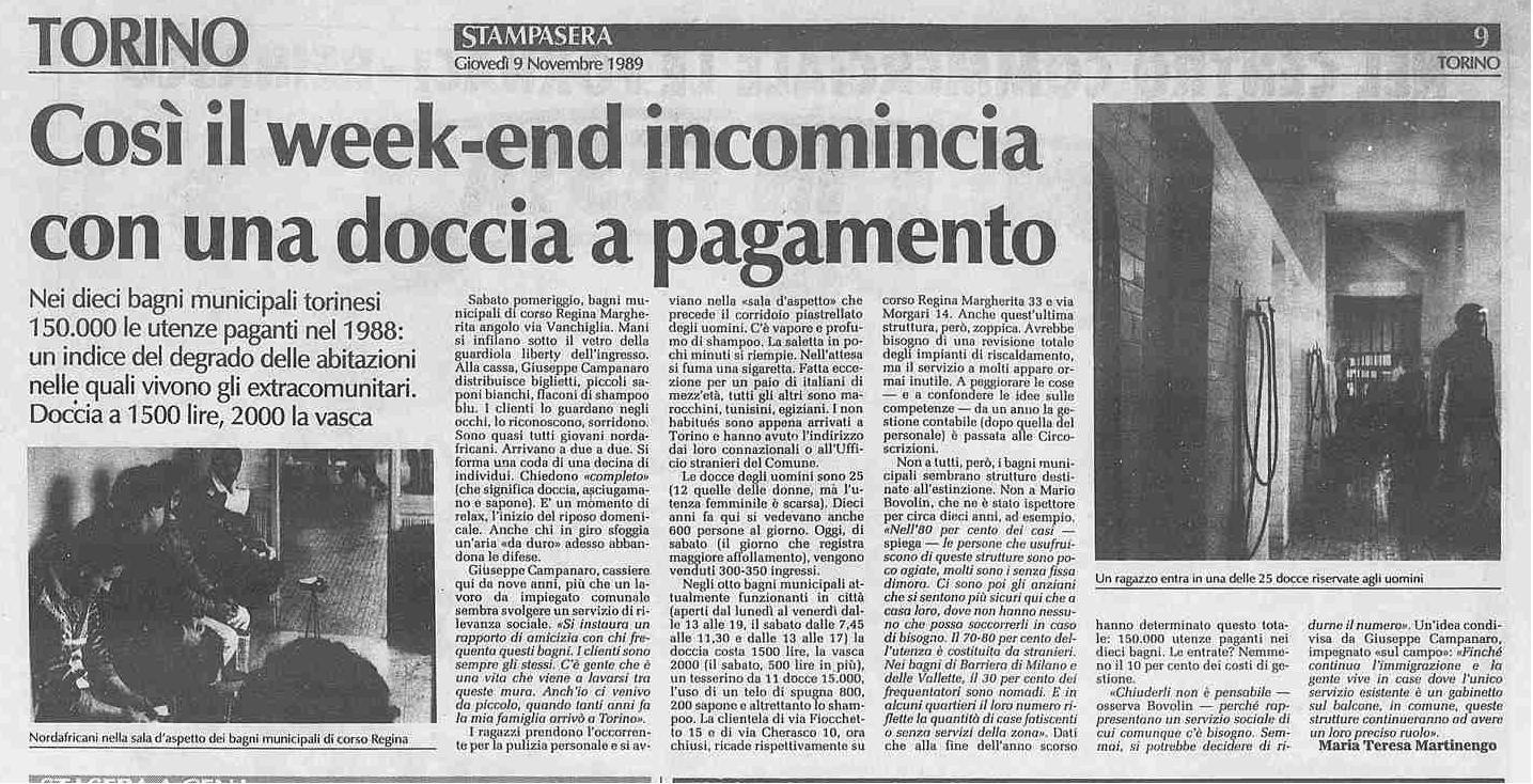 la stampa bagni 1989