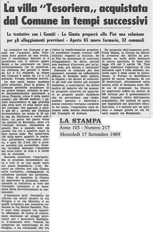 tesoriera la stampa 091969