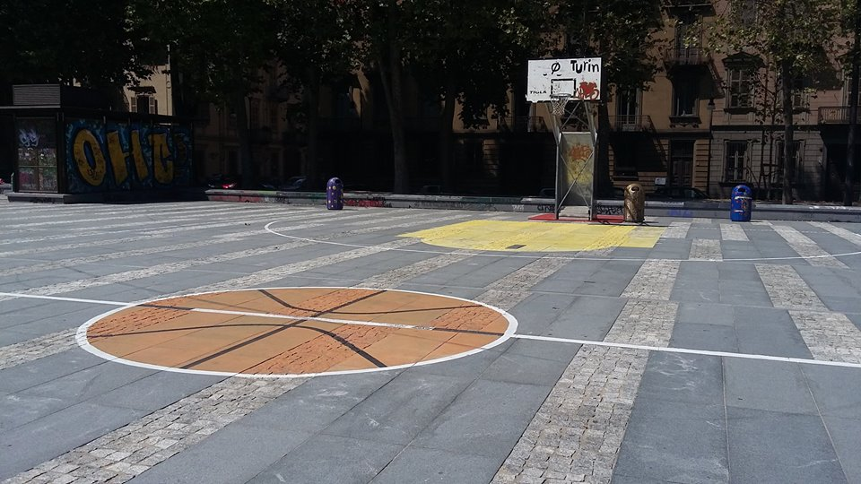 Playground di streetbasket in Piazza Albarello
